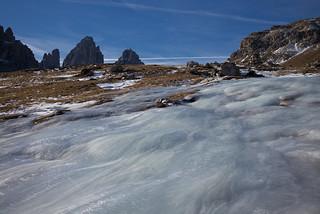 frozen water @ three peaks of Lavaredo