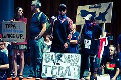 TPPA 2016-1 (domhartnett) Tags: newzealand democracy protest auckland aotearoa queenstreet skycity aoteasquare tpp tangatawhenua thisiswhatdemocracylookslike tppa tetiritiowaitangi thetreatyofwaitangi realchoice stoptpp tppanoway tranpacificpartnership itsourfuture noaltpp