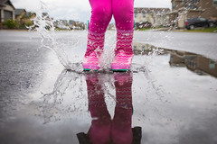 Muddy Puddles (nophoto4jojo) Tags: pink 6 house girl rain fun pig fuji boots daughter fujifilm puddles muddy galoshes peppa lightroom activeassignmentweekly bestofweek1 bestofweek2 bestofweek3 bestofweek4 x100t