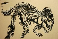 Linoldruck T.Rex (Alemwa) Tags: berlin kreuzberg druck linoldruck reduktion tierprparat tyranosarusrex alemwa
