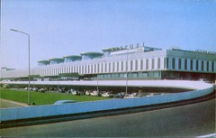 Leningrad International Airport, USSR (SwellMap) Tags: architecture plane vintage advertising design pc airport 60s fifties aviation postcard jet suburbia style kitsch retro nostalgia chrome americana 50s roadside googie populuxe sixties babyboomer consumer coldwar midcentury spaceage jetset jetage atomicage