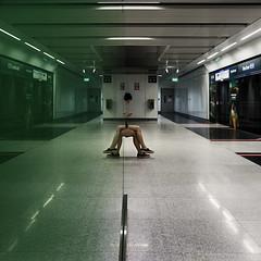 Singapore (ale neri) Tags: street woman reflection subway asian singapore metro streetphotography aleneri alessandroneri
