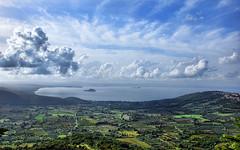 DSC_0890 Veduta del Lago di Bolsena da Montefiascone (VT) (Giovanni Pilone) Tags: sky panorama landscape lago nuvola cielo vista veduta viterbo paesaggio collina montefiascone allaperto