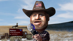Ammon Bundy - Caricature (DonkeyHotey) Tags: art face oregon photomanipulation photoshop photo political politics cartoon manipulation burns caricature politician militia campaign karikatur caricatura commentary politicalart karikatuur politicalcommentary malheurnationalwildliferefuge donkeyhotey clivenbundy ammonbundy pacificpatriotsnetwork