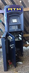 ATM open to (fxb81) Tags: atm broke open money less cash society withdrawn value