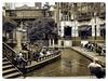 (photo.po) Tags: urban bw monochrome sanantonio mall river outside tx border tourist romantic gondola sa barge bwphoto sanantonioriverwalk satx
