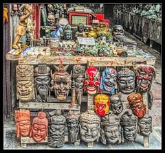 Masks / 1 (Bruno Zaffoni) Tags: china mask yangshuo masks cina maschera guangxi