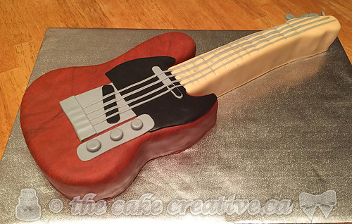 Admirable Electric Guitar Birthday Cake A Photo On Flickriver Funny Birthday Cards Online Alyptdamsfinfo