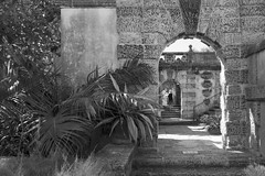Vizcaya Gardens Arched Passages BW (Don Thoreby) Tags: gardens stairs arch florida miami steps passages walkways walls mansion fountains archways coconutgrove biscaynebay miamiflorida villavizcaya gardensteps renaissancearchitecture vizcayamuseumandgardens gardenpathways villavizcaya1914 jamesdeeringmansion