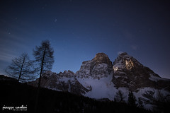 Rays Of The Moon... (Beppe Cavalleri - www.beppecavalleri.com) Tags: italy mountains nature night clouds wonderful stars landscape nightscape rays ricohgr dolomiti beppecavalleri giuseppecavalleri