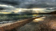 Runner bliss (ossington) Tags: light sunset sun canada mood lakeshore scarborough lakeontario bliss