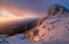A heavenly light... (George Pancescu) Tags: trees winter light sunset wild sky cliff cloud mountain snow cold tree nature clouds forest landscape nikon scenery europe view natural outdoor romania goldenhour winterscape massif neamt 1635mm ceahlau d810 ocolasulmare outstandingromanianphotographers