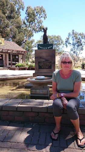 Di with the Dog on the Tuckerbox 5 miles from Gundagai