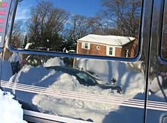 shiny van reflection ~ HWW! (karma (Karen)) Tags: windows reflections maryland baltimore neighborhood vans 4winter hww