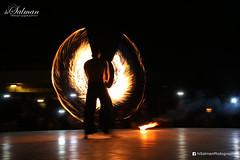 Fire Wings (hisalman) Tags: show longexposure camp night dark fire long dubai desert safari