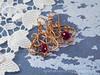 """Orecchini in Wire """"Zenobia"""" (Faerie Land Design) Tags: red wire bordeaux copper earrings rosso zenobia rame oxblood wirewrapped rondelle orecchini"""