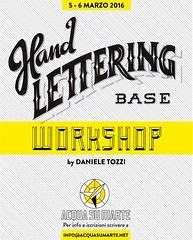 "Hand Lettering Workshop Milano 2016 (Daniele ""Pepsy"" Tozzi) Tags: milano letters workshop type lettering calligraphy handlettering typedesign"