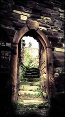 Aufgang (Peter Daum 69) Tags: door light shadow color castle art dark licht dream arc treppe mystik landschaft farbe moods schatten tür stimmung burg traum