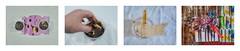 """Tapestry Diary: Fat Tuesday, Birthday Thomas Bernhard: Eating Profiteroles """"Bonta Divina"""" Tagebuch Teppich Tapisserie Tagebuch 9. 2.: Faschingsdienstag Brandteigkrapfen essen zu Thomas Bernhards Geburtstag. TimeLine roter Faden (hedbavny) Tags: vienna wien blue winter red food white colour rot kitchen silver gold austria design österreich essen theater hand theatre assemblage finger spiegel diary band tapis eat improvisation donut envelope letter küche weaver blau recycling schrift farbe tagebuch weber bernhard loom tapestry teppich handwerk silber webstuhl analogie werkstatt tapisserie graphology szene handschrift weis inszenierung arbeitsraum buchstabe cruller krapfen aufzeichnung kuvert thomasbernhard graphologie upcycling weavingloom bildteppich webatelier brandteigkrapfen teppichweber hedbavny ingridhedbavny goldenerfaden zeitlicheabfolge grafologie tapistura"""