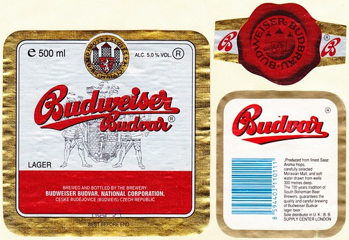 Budvar export 12° (UK) 1983-84