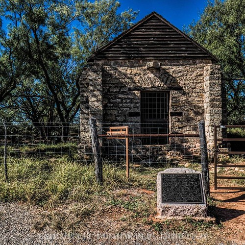Across the street from the fort is the old magazine.   The only complete building left of the fort. The rest burned decades ago or were torn down over the years.  Located in present-day Jones County, Fort Phantom Hill is one of the most pristine historic