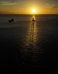Long shadows at sunset (Andy Coe) Tags: cruise sunset people holiday port island ship o dream grenada thomson po p adonia