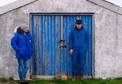 Not the Locals (plot19) Tags: door family blue portrait west men fashion island photography scotland nikon jake northwest jacob aaron north son western teenager outer northern isle isles scotish hebrides sons fasion berneray plot19