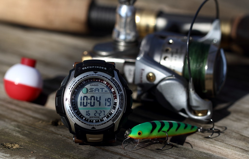 The world 39 s best photos of casio and pathfinder flickr for Casio pathfinder fishing watch