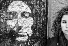 DSC_8234 (Stefanos Antoniadis) Tags: she portrait woman muro portugal girl beauty face fashion wall graffiti donna model europa europe lisboa lisbon curvy lei ricci half walls murales ritratto viso bellezza ragazza lisbona portogallo muri almada nereid faccia murale volto met modella riccia fascino nereide curvyhair