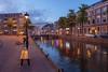 blue hour Alkmaar (Jan Herremans) Tags: bridge holland netherlands reflections canal cityscape nederland bluehour alkmaar 2010 woophy janherremans