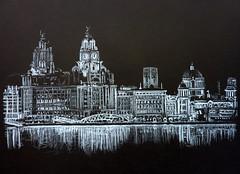 Liverpool (darrenhallsart) Tags: uk liverpool liverbuilding blackandwhitedrawing