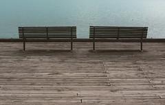 (felix.h) Tags: newzealand canon bench eos coast pacific shoreline canterbury pacificocean shore benches akaroa 400d canoneos400d digitalrebelxti eoskissdigitalx tokina5013528 tokina50135mm28