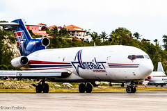 Amerijet Boeing 727-233(A)(F) N395AJ (Jan Kr) Tags: beach saint plane canon martin aircraft aviation aeroplane boeing stmaarten takeoff sxm 727 boeing727 tncm mahobeach aviationphotography