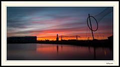 Middlehaven Sunset (0Hammer64) Tags: longexposure sunset silhouette lens prime twilight nikon dusk cleveland 20mm f18 middlesbrough d800 transporterbridge yabbadabbadoo middlehaven temenos 0hammer64