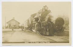 S.P. Depot. Luling, Texas (SMU Central University Libraries) Tags: texas sp locomotives railroads railroadstations depots rppc railroadtrains southernpacificrailroadcompany