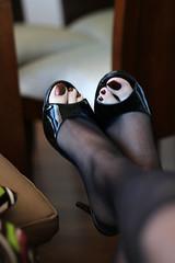 Mules & pantyhoses (Erika Feet) Tags: woman sexy feet stockings girl wearing fashion female fetish pie foot high shoes shiny toes pumps toe open legs slut sandals bare zeh leg polish hose wear ellie flipflop clear exotic nails thong flip pies dedos strap heels heel peep tacones stripper altos stiletto sole ankle slides mules pantyhose soles flop fsse sandal nylon mule toenails fuss sandalias strappy nylons toenail plataforma desnudo peeptoe zehen opentoe plattform fetisch nudos slingback heeled pleaser tacon leggins sohlen