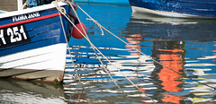Reflection at Staithes (Sarah Howard Photography) Tags: uk england reflection water landscape boats coast yorkshire staithes