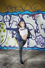 Dancing in the street (Igtocru Photography) Tags: street people woman girl beauty graffiti dance nikon funky dancer softbox d800 strobist whiteumbrella sb700 sb910