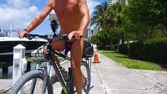 purple missile bike (bmicro2000) Tags: man male banana bikini thong tiny gstring rocket missile manthong minimalswimwear microkini microbeachwear