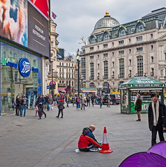 Piccadilly Circus (FujiFilm X70 -  Converted RAW LR6) (markdbaynham) Tags: city urban london westminster prime fuji 28mm capital super fujifilm fixed metropolis fujinon f28 compact x70 ebc londonist apsc fujix 16mp panacke transx