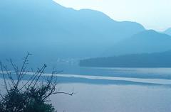 2-27 (EH500) Tags: mountain lake color slr film water sunrise landscape nikon scenery fuji taiwan slide velvia 135 nikkor  fujichrome nikoncoolscan  sunmoonlake angenieux rvp fe2 70210mm  rvp100 angenieux70210mm    fujichromevelvia   angnieux scanbynikon9000ed