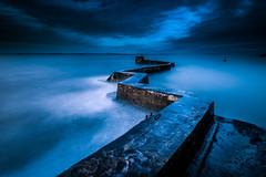Zigzag (devlin11) Tags: morning colour water night clouds contrast coast scotland pier seaside nikon scenery exposure fife magic east zigzag tranquil mystic eastcoast elie stmonans d810