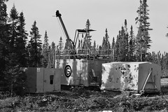 Forage au diamants (frankthewood63) Tags: white black diamonds noir blanc forage drilling abitibi valdor 2016 diamants