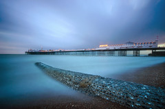 Brighton Pier Big Stopper (KVH-P) Tags: ocean uk sunset sea sky beach water clouds sussex pier lowlight nikon brighton waves seascapes wideangle slowshutter eastsussex breakwater slowshutterspeed sigma1020mm 2016 gitzotripod leefilters uklandscape sussexlandscape beacheslandscapes d7000 cloudsstormssunsetsandsunrises bigstopper nikond7000 sussexseascapes