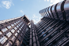 Lloyds Building ({Laura McGregor}) Tags: city urban london architecture industrial steel pipes scifi fujifilm futuristic limestreet richardrogers leadenhallstreet vsco insideoutbuilding vscofilm fujixpro2 lloydsbuild