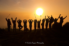 """From the rising of the sun to the place where it sets, the name of the Lord is to be praised."" Psalm 113:3 (SweetCaroline♥) Tags: mountain nature sunrise asian asia adult philippines group climber sihouette benguet mountaineers mtpulag 2016 ambangeg groupsilhouette mtpulagsunrise"