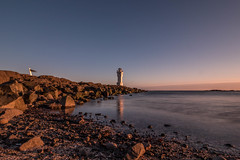 Evening in April (GBen) Tags: sunset lighthouse seascape nature iceland rocks tranquility calm filter serenity walkaround akranes bwfilter ndfilter vitinn akranesviti