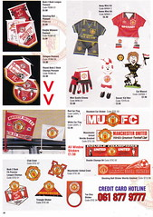 Manchester United - Official Merchandise Catalogue - 1994 - Page 36 (The Sky Strikers) Tags: old red classic manchester souvenirs official united fred merchandise 1994 collectors trafford catalogue the leisurewear