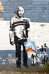Albert Heijnstein (R. Engelsman) Tags: streetart art painting artwork paint grafitti albert einstein ah albertheijn