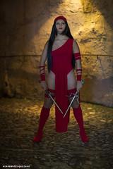 206 (Alessandro Gaziano) Tags: red portrait woman colors girl beauty cosplay lucca cosplayer rosso colori ritratto electra bellezza ragazza costumi luccacomics womenexpression alessandrogaziano